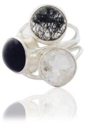 Triple Stone Onyx Ring