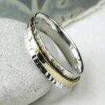 POM Hammered Silver & Brass Spinning Ring