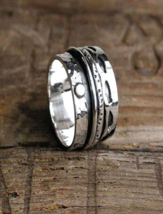 POM Sterling Silver Dots Ring