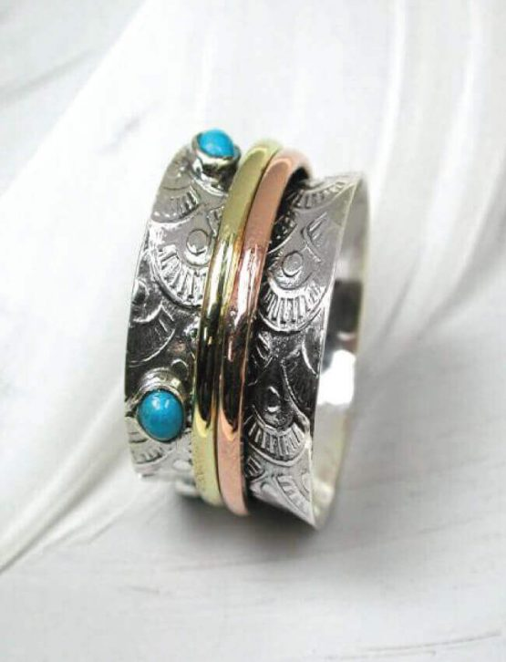 POM Turquoise Spinning Ring