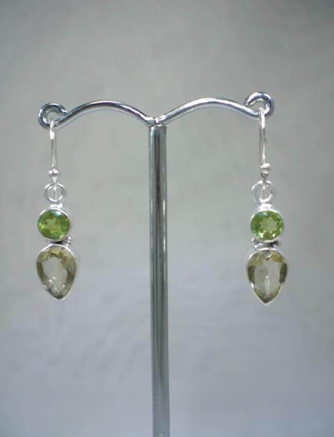 Peridot & Topaz Earrings